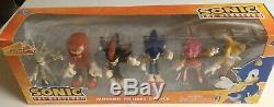 Sonic Hedgehog Modern Figures 6 pack Knuckles Super Rare Toy Action Set Tails