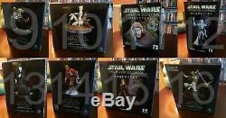 Star Wars Animated Maquette's Super Rare set L@@K