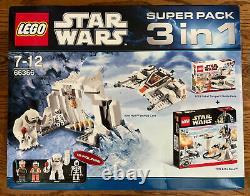 Star Wars Lego 66366 w 7749 8083 8089 Super Pack 3 in1 Echo Base SEALED MIB RARE