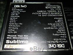Sublime Live At Tressel Tavern Memories super rare live 2 CD set # 575 /1000