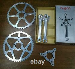 Sugino Super Maxi Crank Chain ring adapter set Rare New Japan