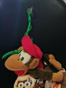 Super Donkey Kong Rare Plush 3 Sets Funky Donkey Diddy Japan 1995