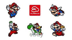 Super Mario 35th Anniversary Exclusive Enamel Pin Set #1 Rare Supports Charity