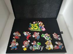 Super Mario Bros. 35th Anniversary Rare Black Box Complete Pin Set Waves 1&2