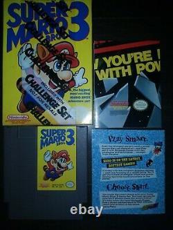 Super Mario Bros. 3 CHALLENGE SET Nintendo Entertainment System, 1990-Very Rare