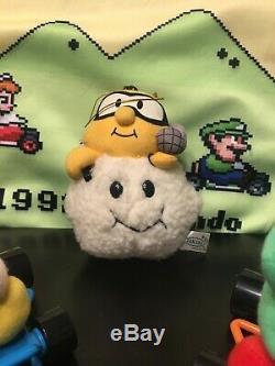 Super Mario Kart FULL SET! Lakitu Plush Toy Takara 1993 UFO Japan RARE Nintendo