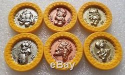 Super Mario RPG Coins Vintage 1995 Nintendo Bandai COMPLETE SET 6 RARE Medal