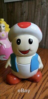 Super Mario World Musical Cookie Jar Nintendo full Set Rare HTF Yoshi Peach Toad