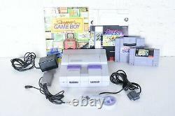 Super Nintendo NES Super Game Boy Set MATCHED Serial Complete Box SNES CIB Bags