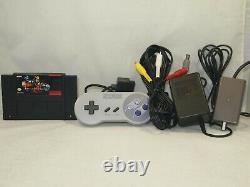 Super Nintendo SNES Console Killer Instinct Set Complete with Matching Serial Rare