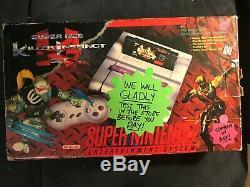 Super Nintendo (SNES) Killer Instinct Console Set CIB Very Rare