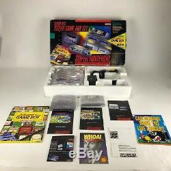 Super Nintendo Super NES Super Game Boy Set Very Rare Complete In Box-Tested