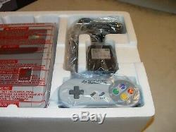 Super Nintendo Super Nes Control Set Console New PAL Aus RARE