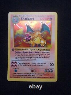 Super RARE 1st Edition Shadowless Charizard Base set 4/102