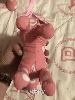 Super RARE NWT Victorias Secret PINK Soft Body Polka Dot Dog SET Display HTF