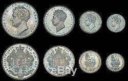 Super Rare! 1826 Great Britain George IV 8 Coins Set