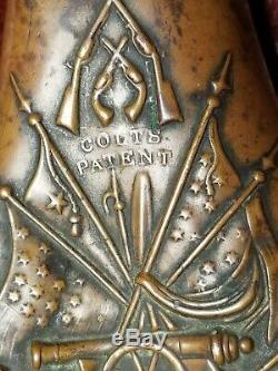 Super Rare 1851 Colt Patent NAVY Powder Flask Civil War Cased Set Powder Flask