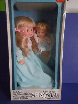 Super Rare 1979 Made In USA Vintage Vogue Dolls Set Big Sister + Little Sister