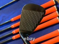 Super Rare Adams Pro Black MB Irons 3-pw 1/2 Longer Stunning Set Of Blades Wow