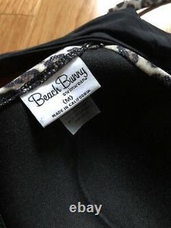 Super Rare Beach Bunny Black Cheetah Tough Love Push Up Bikini Set M/m Medium