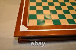 Super Rare Danbury Mint Baseball Chess Set withBoard / Storage, Poster, Letter