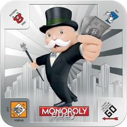 Super Rare Item 2013 Monopoly 2 x 1 Oz Silver Coin Set