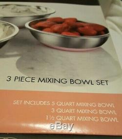 Super Rare Pink Calphalon & St Steel 3pc Mixing Bowl Set(kitchenaid/cuisinart)