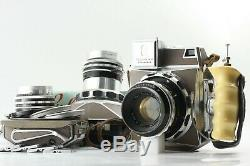 Super Rare Set! Linhof Technika Press 6x9 with 53mm 100mm 180 Lens from JAPAN