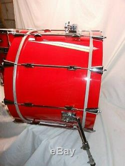 Super Rare Vintage 1993 Noble & Cooley Star Series Red Lacquer 5-PC Drum Set