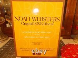 Super Rare! . Webster's 1828 Dictionary Facsimile. Only 500 Sets Published