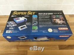 Super Set NES Verison Console Bundle Box Set Super Nintendo PAL RARE Collectors