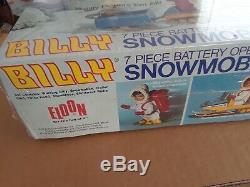 Super rare! Original 1970 BILLY BLASTOFF (7) piece SNOWMOBILE set / new