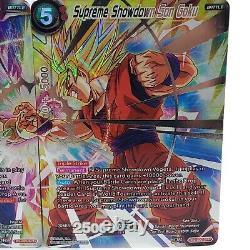 Supreme Showdown Vegeta TB2-005 Goku TB2-002 SPR SET Dragon Ball Super Card TCG