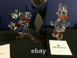 Swarovski Disney Donald Duck and Daisy Duck Figurine SUPER RARE SET