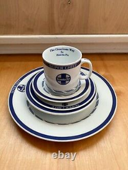 The American Rails Super Chief Santa Fe Dinnerware Set Of 6 Rare Set Pre-Owned