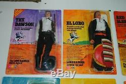 The Lone Ranger Rides Again Super Rare Set Carded & Boxed Figures