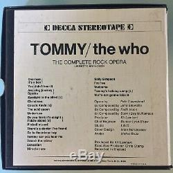 The Who Tommy 7 1/2 IPS REEL TO REEL TAPE SET Of 2 SUPER RARE psych CLASSIC