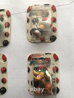 Tomy NINTENDO Super Mario 64 6 Mini Figurine Set Very Rare NEW Mario Yoshi