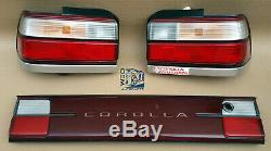 Toyota Corolla AE100 AE101 super Rare Tail Lights with Garnish set oem jdm used