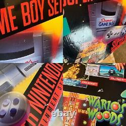 VERY RARE VARIANT BOX and FOAM ONLY Super Nintendo Super Game Boy Set SNES