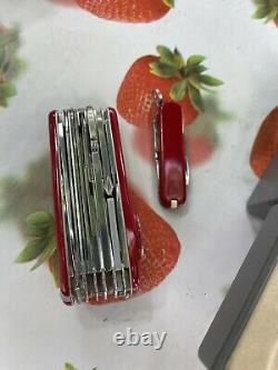 VICTORINOX DUO SUPER TIMER SWISS POCKET KNIFE SET rare vintage couteau
