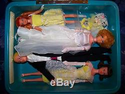 VINTAGE #1017 BARBIE WEDDING PARTY 4 DOLLS GIFT SET with trunk SUPER RARE