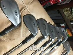 Vega VM-02 RAW Iron Set 4-PW, RH. SUPER RARE. Shimada X Flex Shafts. New Grips
