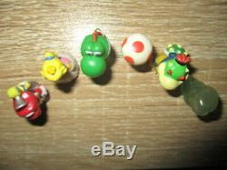Very rare complete set of SUPER MARIO SUNSHINE Mini Figure Peach Yoshi Bowser Jr