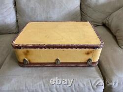Vintage 1940s Amelia Earhart Luggage Suitcase Set Lg & Sm Super Rare Set