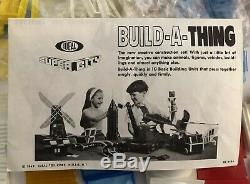 Vintage 1968 Ideal Super City Build-A-Thing Set 370 Pieces Building Toy RARE