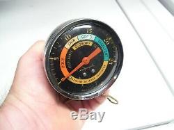 Vintage 60s Airguide chrome VACUUM gauge auto service dial gm street rat hot rod