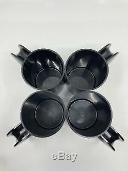 Vintage Heller Design by Massimo Vignelli 24-Piece BLACK Set Super RARE