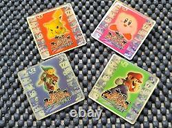 Vintage Nintendo Super Smash Bros DX pin badge Rare Promo Event Prize SET OF 4