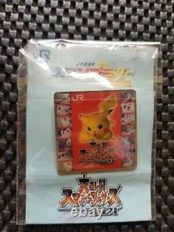 Vintage Nintendo Super Smash Bros DX pin badge Rare Promo Event Prize SET OF 4 N